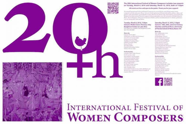 Poster Design for Festival of Women Composers