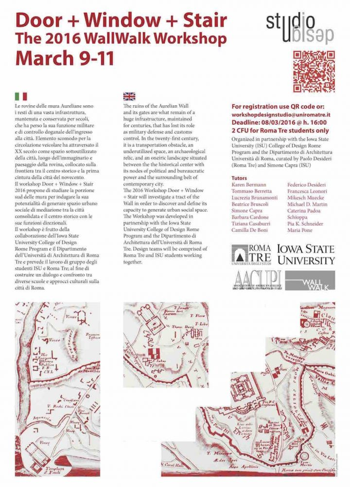 Poster Design for Roma Tre and ISU Workshop