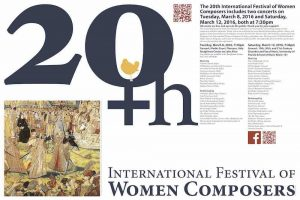 Read more about the article Final Poster for 20th Festival of Women Composers