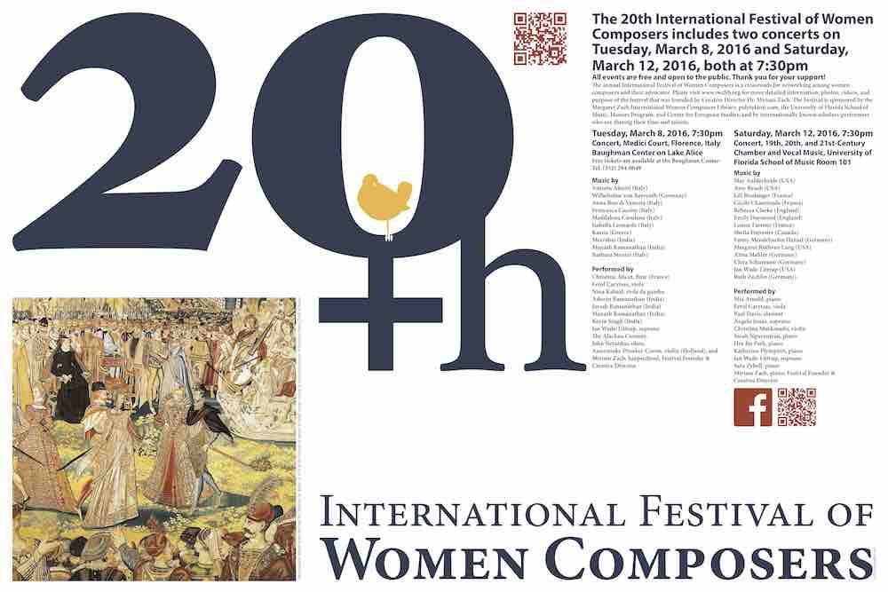 Final Poster for 20th Festival of Women Composers