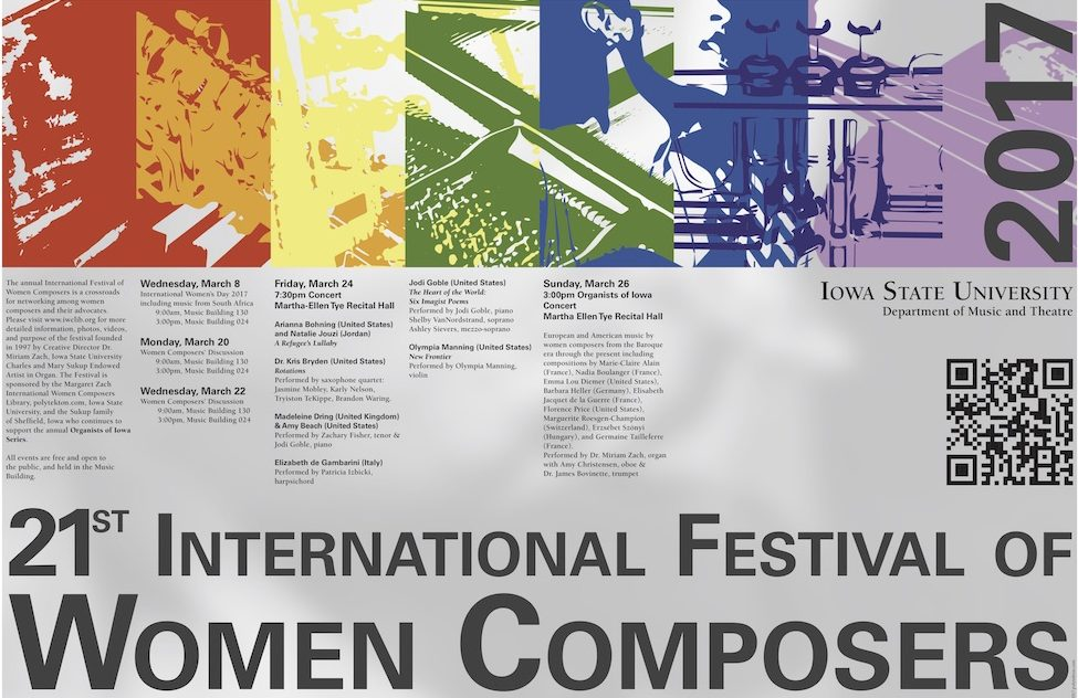 Poster for Women Composers' Festival