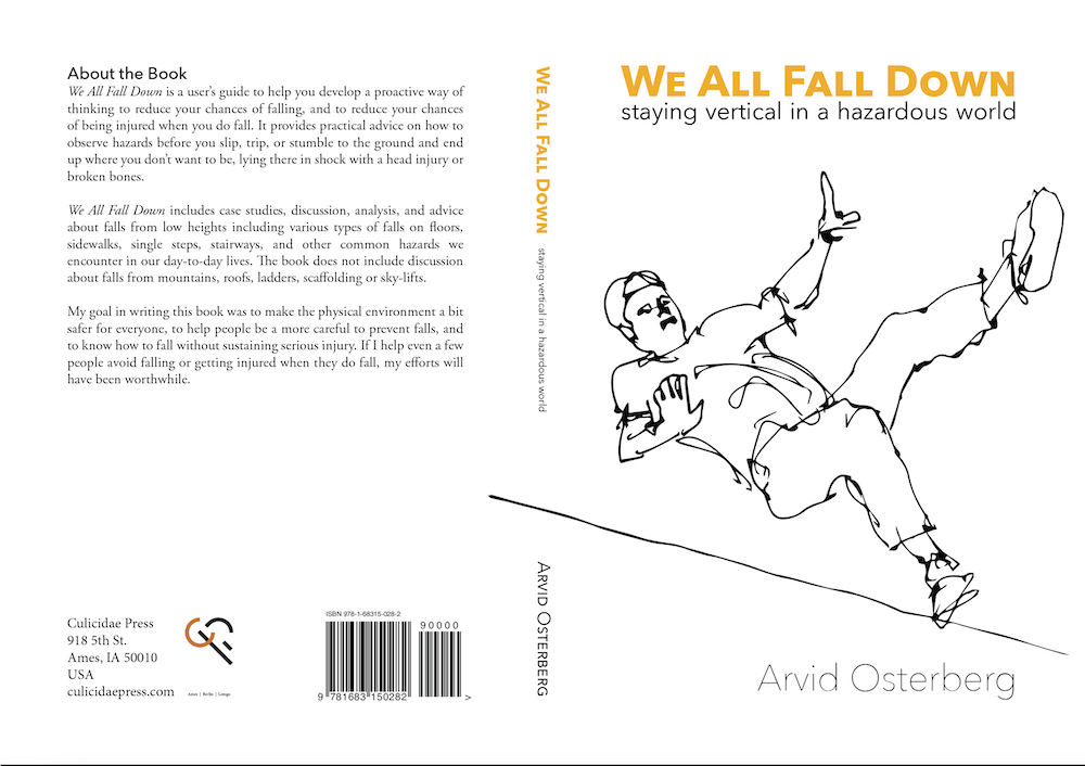 Book Cover for Arvid Osterberg's 'We All Fall Down'